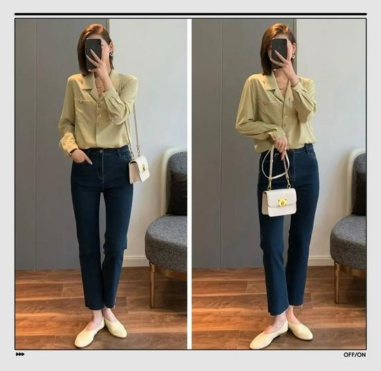 衬衫+长裤绝对是好上身的最佳CP,还特别显瘦显高插图8