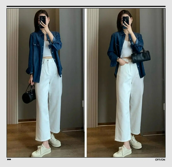 衬衫+长裤绝对是好上身的最佳CP,还特别显瘦显高插图16