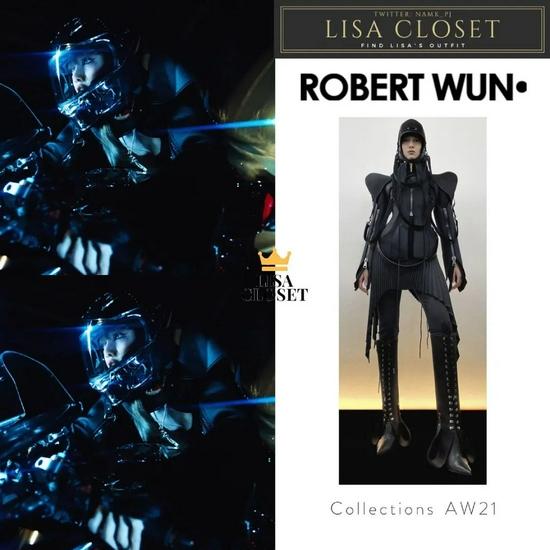 Lisa同款RobertWun未来风结构夹克