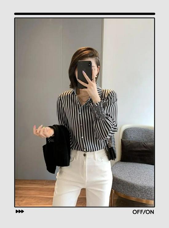衬衫+长裤绝对是好上身的最佳CP,还特别显瘦显高插图10