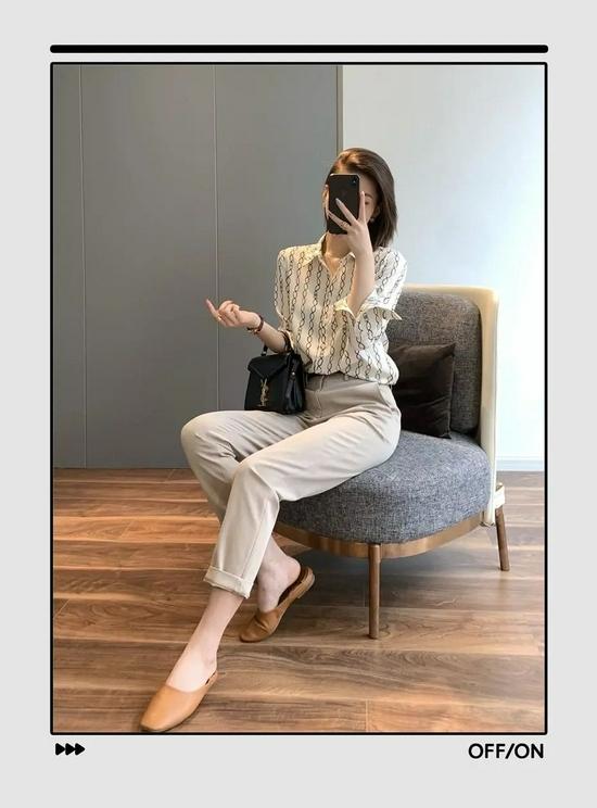 衬衫+长裤绝对是好上身的最佳CP,还特别显瘦显高插图20